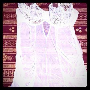 White sheer Plus size lingerie